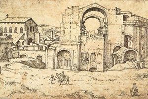 Maarten Van Heemskerck - Construction of the New St Peter-s in Rome