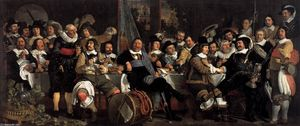 Bartholomeus Van Der Helst - Celebration of the Peace of Münster, 1648, at the Crossbowmen's Headquarters