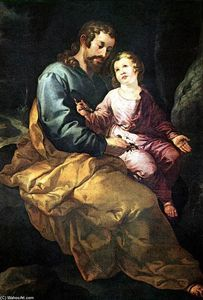Francisco De Herrera - St Joseph and the Christ Child