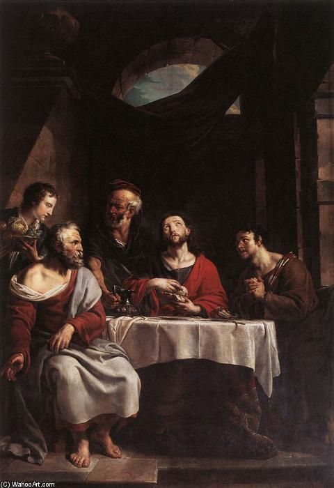 Supper at Emmaus, 1808 by Willem Herreyns (1743-1827, Netherlands) | Museum Art Reproductions Willem Herreyns | WahooArt.com