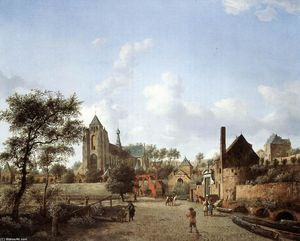 Jan Van Der Heyden - Approach to the Town of Veere