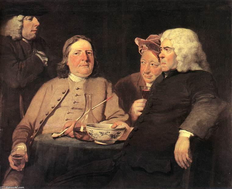 Mr. Oldham and his Friends, 1750 by Joseph Highmore (1692-1780, United Kingdom) | Museum Quality Reproductions | WahooArt.com