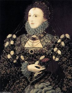 Nicholas Hilliard - Portrait of Elizabeth I, Queen of England
