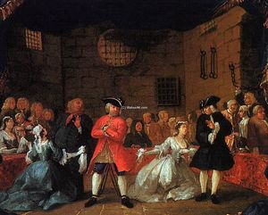 William Hogarth - A Scene from the Beggar's Opera