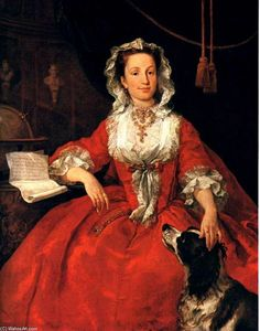 William Hogarth - Portrait of Mary Edwards