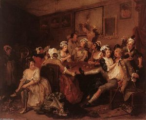 William Hogarth - The Orgy
