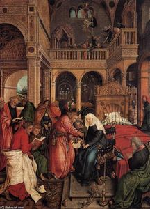 Ambrosius Holbein - Death of the Virgin
