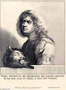 Wenceslaus Hollar - Giorgione's Self-Portrait as David
