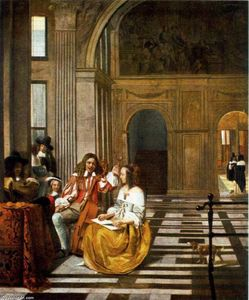 Pieter De Hooch - Company Making Music