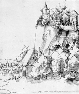 Wolf Huber - Landscape with Castle