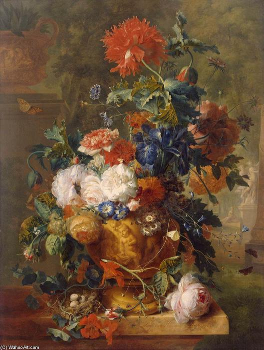 Flowers, 1722 by Jan Van Huysum (1682-1749, Netherlands) | Reproductions Jan Van Huysum | WahooArt.com