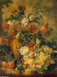 Jan Van Huysum - Flowers and Fruit