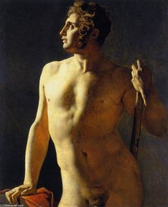 Jean Auguste Dominique Ingres - Study of a Male Nude