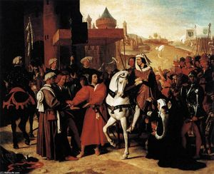 Jean Auguste Dominique Ingres - The Entry of the Future Charles V into Paris in 1358