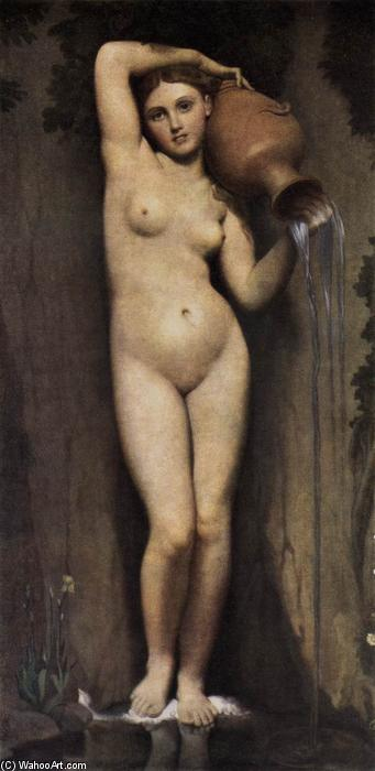 The Source, Oil On Canvas by Jean Auguste Dominique Ingres (1780-1867, France)