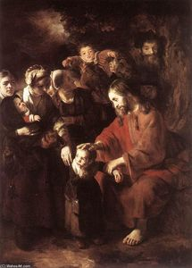 Nicolaes Maes - Christ Blessing the Children