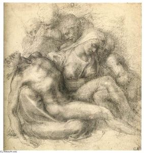 Michelangelo Buonarroti - The Lamentation of Christ (recto)