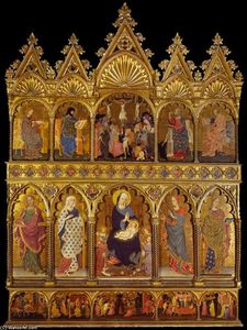 Order Museum Quality Copies | Polyptych of Sant`Elena, 1427 by Michele Di Matteo Lambertini | WahooArt.com