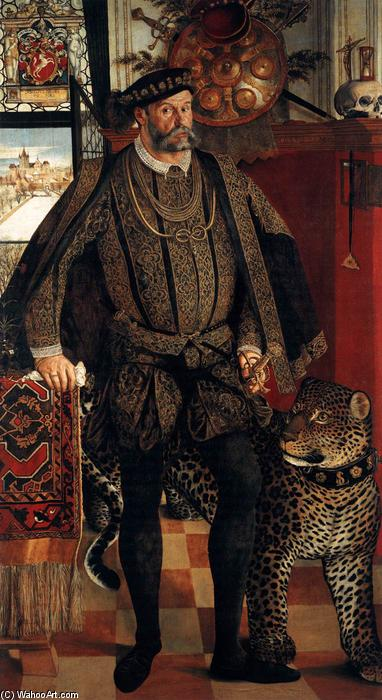 Portrait of Ladislaus von Fraunberg, Count of Haag, Oil On Canvas by Hans Mielich (1516-1573, Germany)