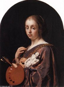 Frans Van Mieris - Pictura (An Allegory of Painting)