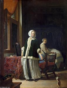Frans Van Mieris - Young Woman in the Morning