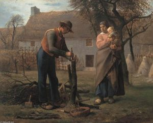 Jean-François Millet - Farmer Inserting a Graft on a Tree