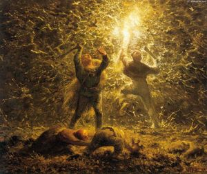 Jean-François Millet - Hunting Birds at Night