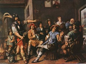 Jan Miense Molenaer - The Denying of Peter