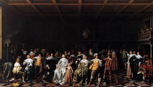 Jan Miense Molenaer - The Marriage of Willem van Loon and Margaretha Bas