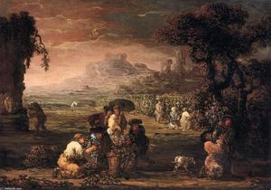 Joos De Momper The Younger - Grape Harvest
