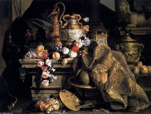 Jean Baptiste Monnoyer - Still-Life of Flowers and Fruits