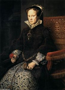 Anthonis Mor Van Dashorst - Queen Mary Tudor of England