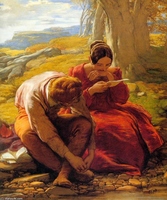 The Sonnet, Oil On Canvas by William Mulready The Younger (1786-1863, Ireland)