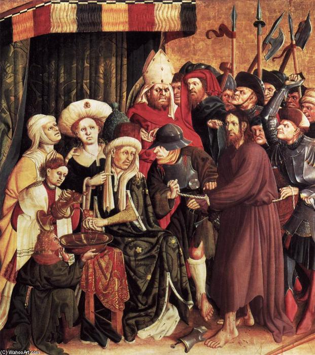 Christ before Pilate, 1437 by Hans Multscher (1400-1467, Germany) | Famous Paintings Reproductions | WahooArt.com