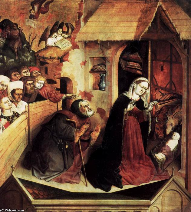 The Birth of Christ, 1437 by Hans Multscher (1400-1467, Germany) | Museum Quality Reproductions | WahooArt.com