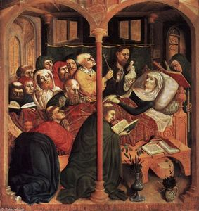 Order Art Reproduction : The Death of the Virgin, 1437 by Hans Multscher (1400-1467, Germany) | WahooArt.com