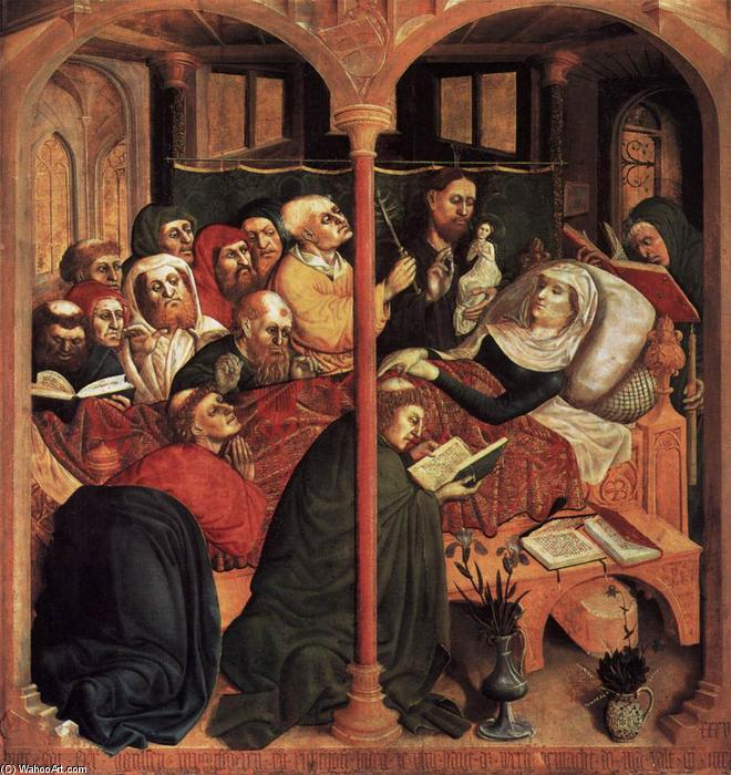 The Death of the Virgin, 1437 by Hans Multscher (1400-1467, Germany) | Art Reproduction | WahooArt.com