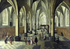 Peeter Neeffs The Younger - Interior of a Cathedral