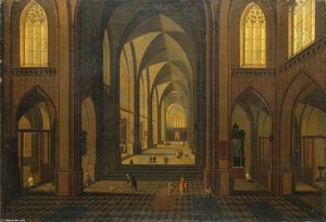Peeter Neeffs The Younger - Interior of a Gothic Church