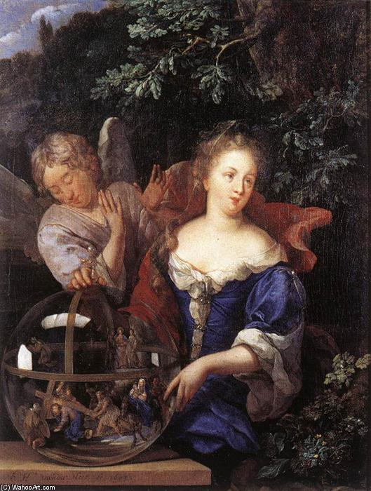 Order Art Reproduction : Allegory of Religion, 1693 by Eglon Van Der Neer (1635-1703, Netherlands) | WahooArt.com