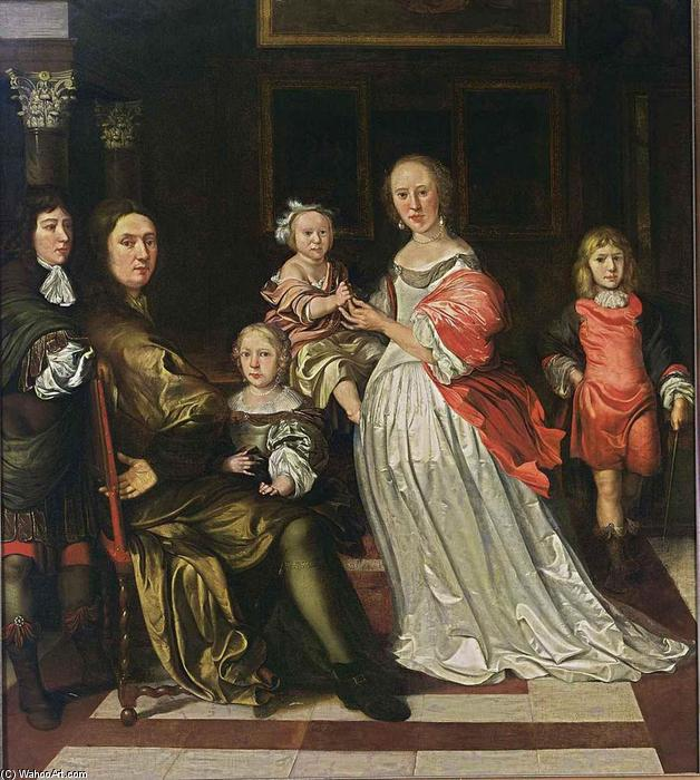 Order Art Reproductions | Family Portrait by Eglon Van Der Neer (1635-1703, Netherlands) | WahooArt.com