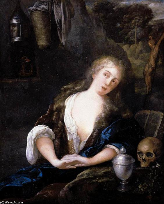 Buy Museum Art Reproductions | The Penitent Magdalene, 1691 by Eglon Van Der Neer (1635-1703, Netherlands) | WahooArt.com