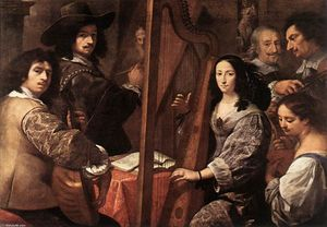 Order Art Reproductions | The Artist and his Family by Carlo Francesco Nuvolone (1609-1662, Italy) | WahooArt.com