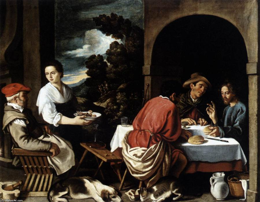 The Supper at Emmaus, 1620 by Pedro Orrente (1580-1645, Spain) | Oil Painting | WahooArt.com