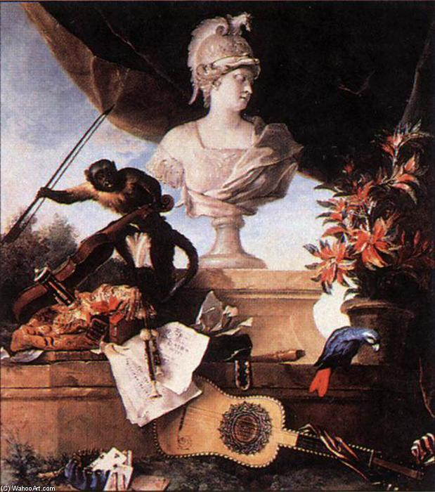 Allegory of Europe, 1722 by Jean-Baptiste Oudry (1686-1755, France) | Famous Paintings Reproductions | WahooArt.com