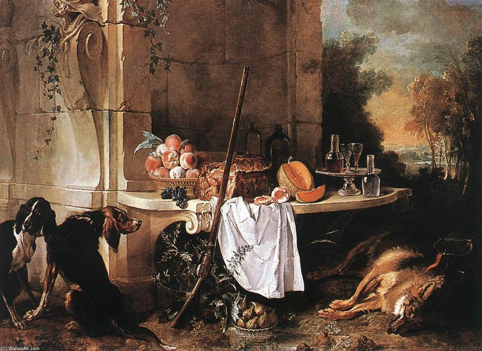 Dead Wolf, Oil On Canvas by Jean-Baptiste Oudry (1686-1755, France)