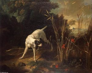 Jean-Baptiste Oudry - Dog Pointing a Partridge