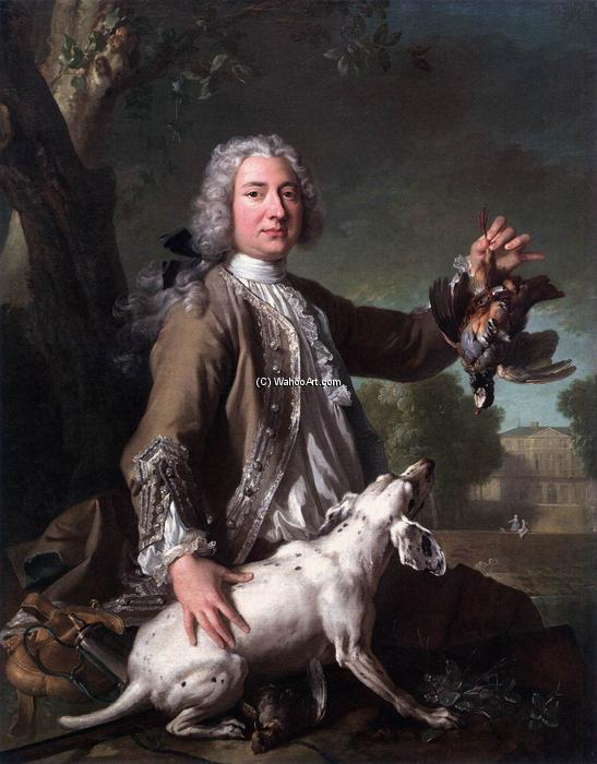 Henri Camille, Chevalier de Beringhen, 1722 by Jean-Baptiste Oudry (1686-1755, France) | Paintings Reproductions Jean-Baptiste Oudry | WahooArt.com