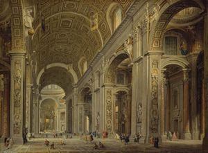 Giovanni Paolo Pannini - Interior of St Peter's in Rome