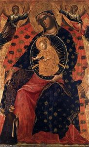Paolo Veneziano - Madonna and Child with two Votaries